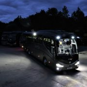 External lights improve safety for coach operator